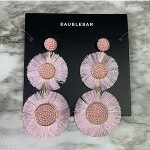 NWT Baublebar Mariette Fringe Drop Earrings Blush